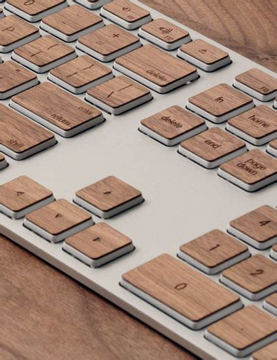 designboom wooden keyboard wooden keyboard by lazerwood industries