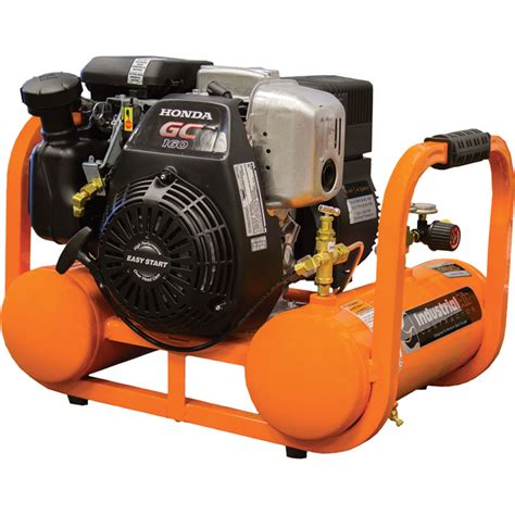 industrial air contractor pontoon air compressor with honda ohc engine 4 gallon 155 psi