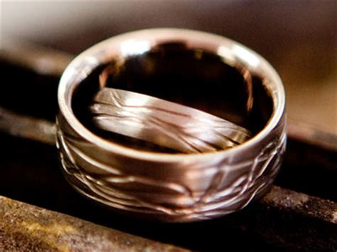 wedding rings textured bands
