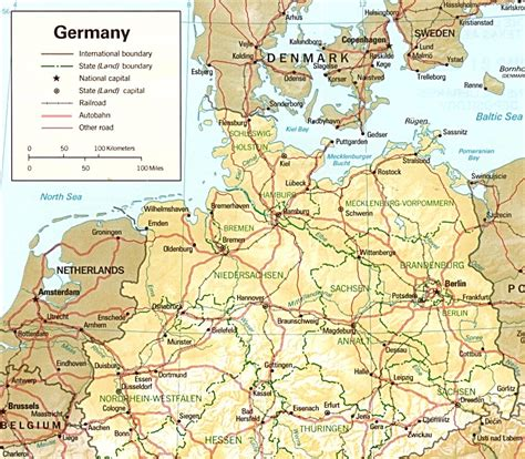 map northern germany northern germany map