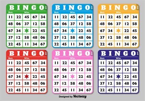 classic bingo cards download free vector art stock