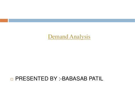 Mba Presentation Slides by Demand Analysis Ppt Bec Bagalkot Mba