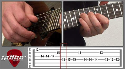 tutorial guitar muse new lesson hysteria by muse theguitarlesson com