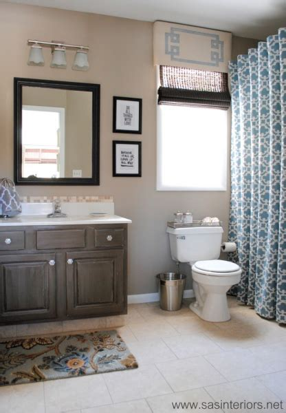 beige and black bathroom ideas scary purple to beautiful neutral bathroom makeover