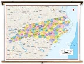carolina world map carolina state political classroom map from academia