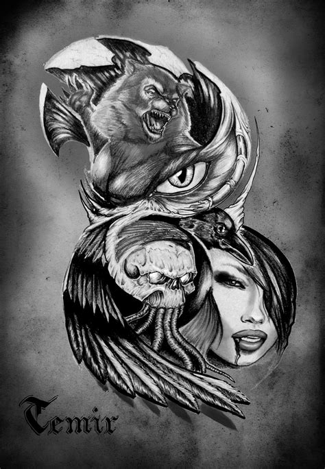 werewolf tattoo designs designs pictures to pin on pinsdaddy