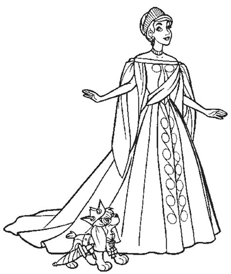 free coloring pages of girls waerind dresses