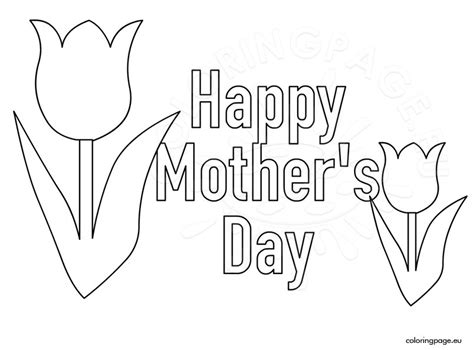 Free Printable Happy Mother S Day Coloring Page Happy Mothers Day Coloring Pages