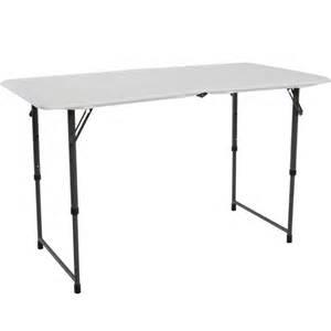 lifetime white adjustable folding table 80218 the home depot