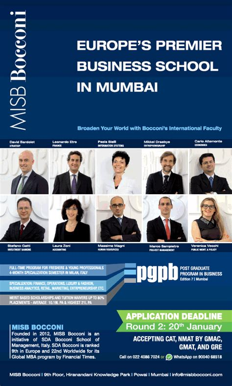 Times Mba Classes In Mumbai by Post Graduate Program In Business Europes Premier Business