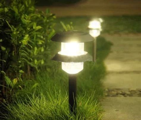 solar powered lawn lights solar powered layer led lawn light for pathway