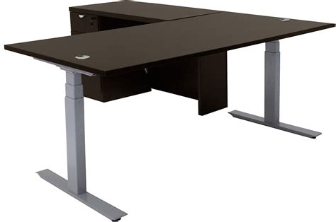 Desks With Adjustable Height Electric Lift Height Adjustable L Shaped Desks