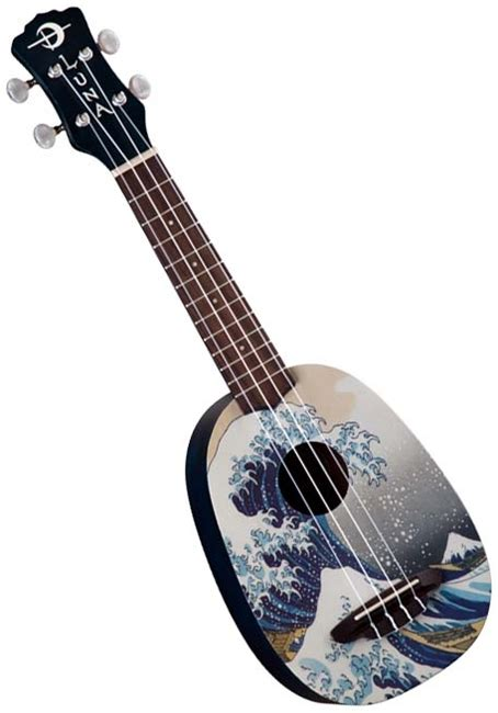 luna uke gws great wave soprano pineapple ukulele w bag
