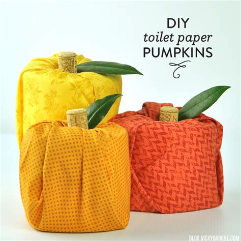 Toilet Paper Pumpkin Craft - diy toilet paper pumpkins barone