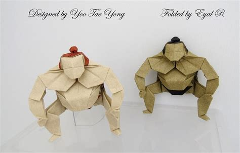 How To Make A Paper Sumo Wrestler - amazing origami models from japanese culture and mythology
