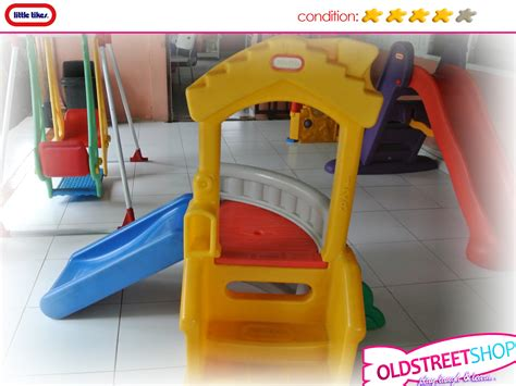 little tikes playhouse with slide and swings oldstreetshop little tikes climb n slide playhouse
