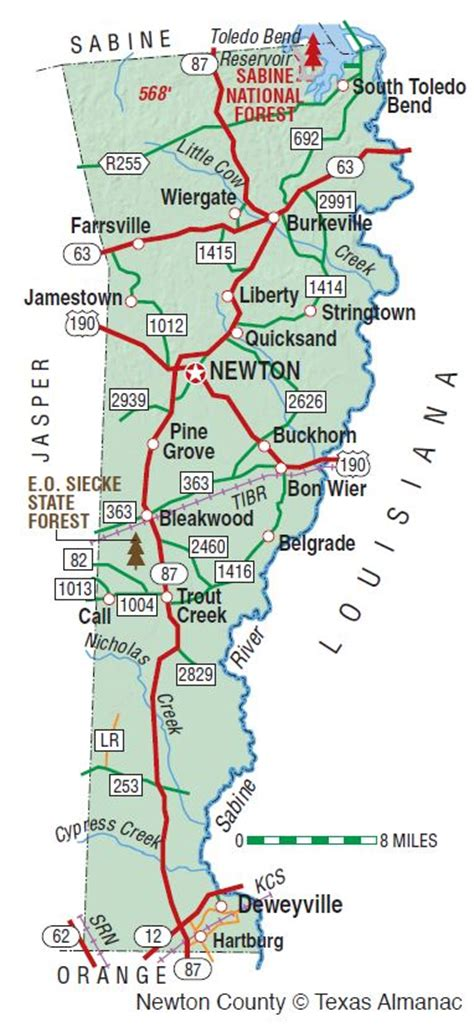 newton county texas map newton county the handbook of texas texas state historical association tsha