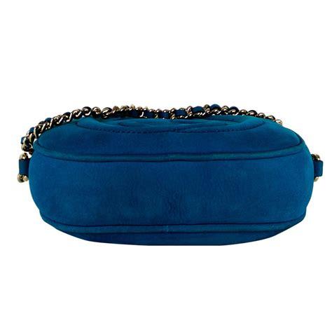 Tas Gucci Crossbody Blue Original gucci blue suede soho mini crossbody chain bag my luxury