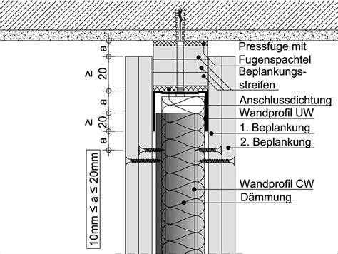 trockenbau anschluss wand decke ausbaupraxis wandanschl 252 sse vermeiden sie spannungen