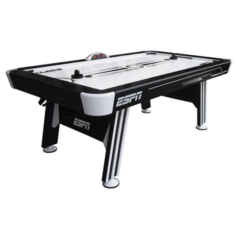 espn air hockey table espn 84 quot enforcer air hockey table