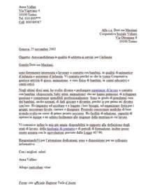 Curriculum Vitae In Italiano by Lettera Di Presentazione Per Autocandidarsi Esempio Reale