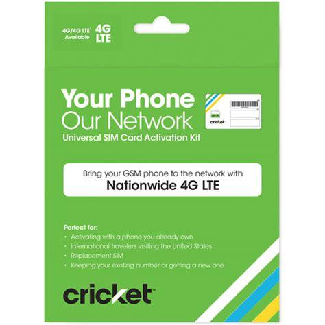 Walmart Gift Card Activation Page - cricket wireless byod universal sim card activation kit walmart com