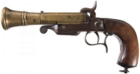 Frame Kacamata Vintage Retro 9606 Gun belgian breech loading pinfire blunderbuss pistol belgium model pinfire brass cannon barrel