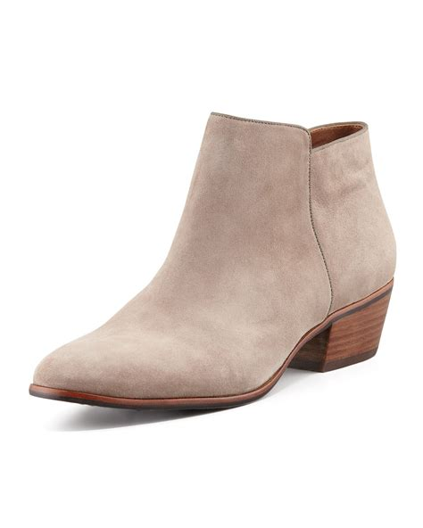 sam edelman petty boots sam edelman petty suede ankle boot in beige lyst