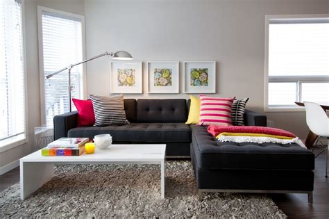 how to decorate living room with sofa ideas to decorate a living room with black sofa living