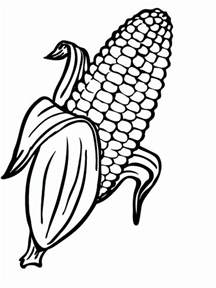 corn color page corn coloring pages and print corn coloring pages