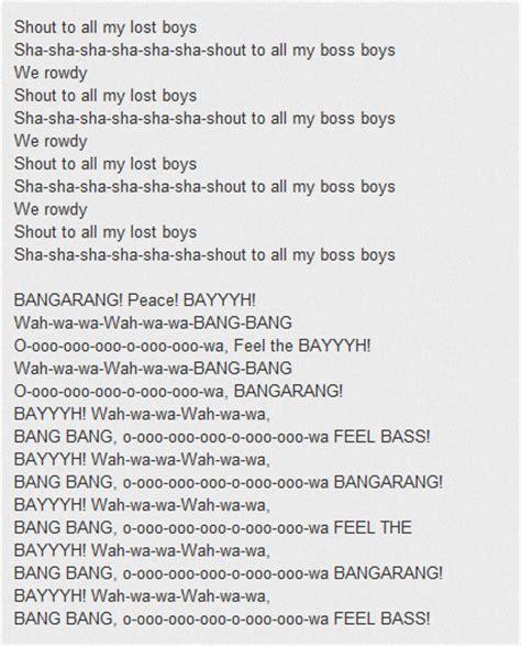 testo canzoni testo canzone bangarang di skrillex testo canzone