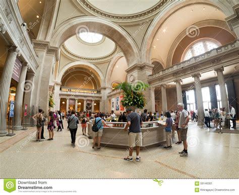 Metropolitan Museum Of Interior by Interior Of The Metropolitan Museum Of In New York