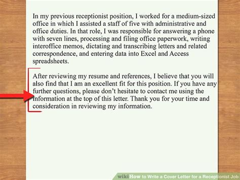how to write a cover letter for receptionist how to write a cover letter for a receptionist 12 steps