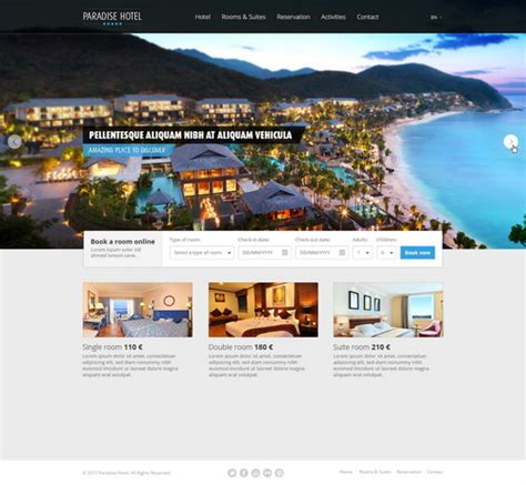 templates for resort website 100 free photoshop psd website templates designscrazed