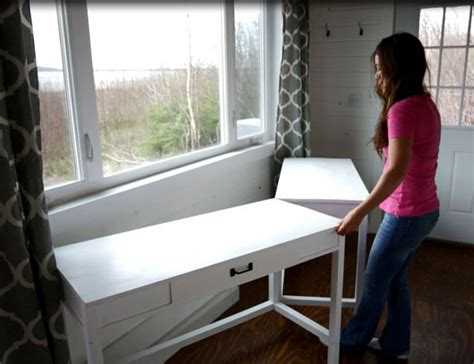 tiny home dining table white desks that convert to table for our tiny house