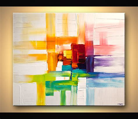 modern paints painting colorful abstract painting modern palette knife