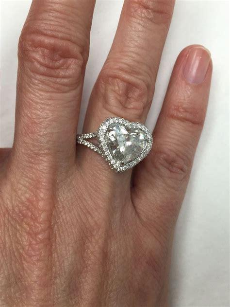 15 best heart shaped engagement rings images on pinterest