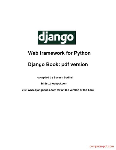 django tutorial for beginners pdf pdf django web framework for python free tutorial for