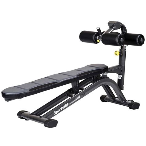 ab crunch sit up bench adjustable abdominal crunch sit up bench sportsart a993