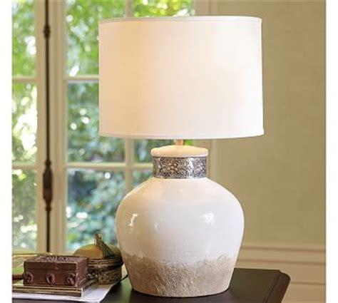 siena ceramic table lamp base pottery barn