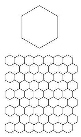 Patchwork Hexagon Templates Free - paper piecing hexagons pattern free