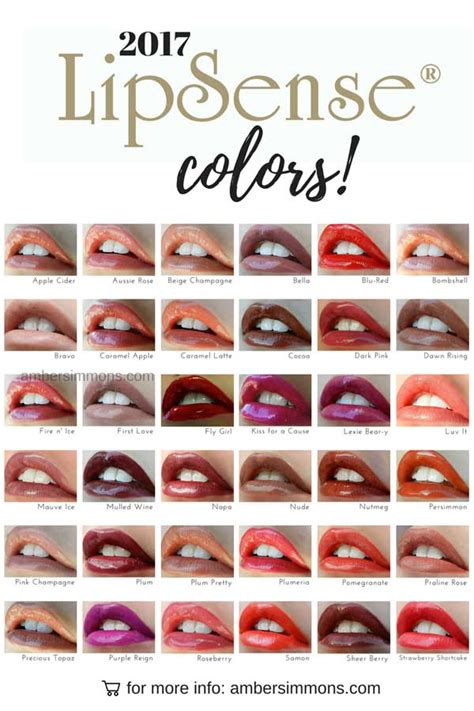 lipsense lip color new 2017 lipsense color chart