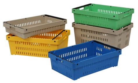 plastic crate stackable and nestable plastic crates