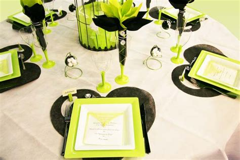 Decoration De Table Noir Et Blanc by D 233 Coration De Table En Vert Noir Et Blanc D 233 Coration