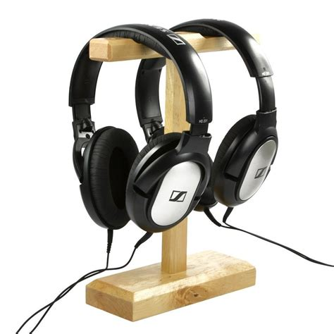 Headset Sony M Dual wood dual headphones stand holder for bose qc15 qc25 sony mdr xb500 shure ultimate ears koss