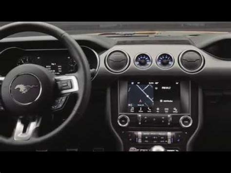 new 2018 ford mustang interior footage youtube