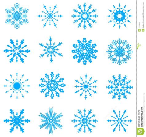 vector snowflakes stock vector image of objects like