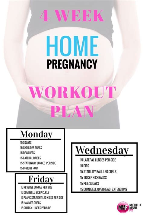 4 week pregnancy workout plan home trimesters of
