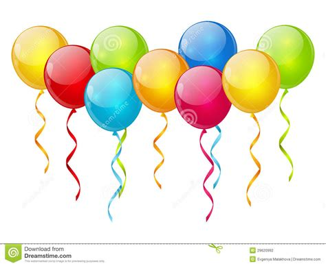 Clipart Palloncini Birthday Balloon Background Stock Vector Illustration Of