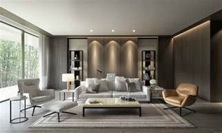 contemporary livingroom earth tone decor interior design ideas